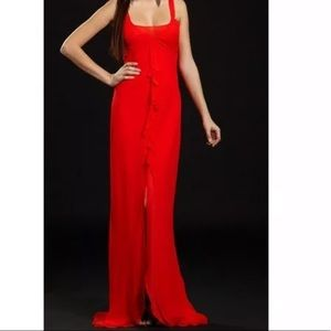 Rock and Republic Red Orange Gown